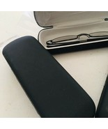 2 pc eyeglasses case black hard-case - $11.88