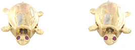 Turtle Women's 14kt Yellow White Rose Gold Earrings - $399.00