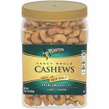Planters Salted Whole Cashews (33 oz Container) - $24.04
