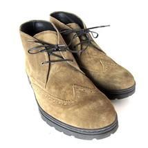 S-1103183 New Salvatore Ferragamo Parker Buc Suede Ankle Boots Shoe Sz U... - $279.99