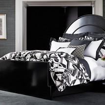 2 Ralph Lauren ELLINGTON Black White Art Deco King Shams $290 - $77.55