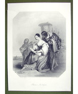 ITALY Florentine Lady in Love Fine Costume - SUPERB Quality Print Engraving - $16.20