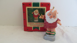 Christmas Hallmark Keepsake 1986 Tipping The Scales Ornament - $6.79