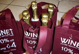 3 Wine Carriers 4 Bottle Totes Eco Friendly Reusable Grocery Shop Picnic... - $153,82 MXN