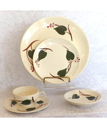 Blue Ridge Southern Pottery Vintage Dishes Stanhome Ivy Skyline 40 Pieces - $32.44