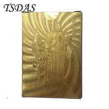 Wu Fortuna (Chinese God) 24K Carat Gold Foil Plated Poker Playing Card - $8.70