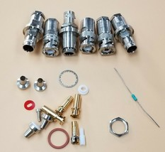 LOT OF VARIOUS TROMPETER COAXIAL CONNECTORS TEI-14949 BJ79-9 / TEI-14949 PL75-9