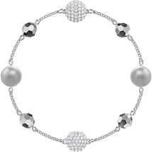 Authentic Swarovski Remix Collection Bracelet With Beads in Rhodium - $59.09