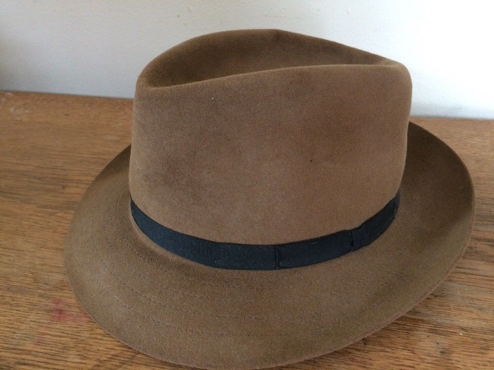 3ad58b41c Vintage Stetson Playboy Fedora Hat Brown w/ and 50 similar items