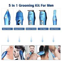 Ceenwes Cool 5 In 1Mens Grooming Kit Professional Beard Trimmer Rechargeable Ha image 2