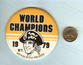 Pirates Baseball TWO ORIGINAL Pinback Pins 3 Rivers Stadium and '79 Worl... - $9.95