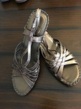 WHITE MOUNTAIN COPPER STRAPPY SANDALS ~ 8M ~ Leather Uppers - NWOB - $13.91