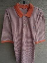 NWT Mens Izod Cotton Pique Knit S/S Polo Shirt  LTall Blue Orange Multi ... - $21.49