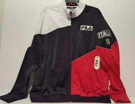 VTG FILA Colorblock SPORT ITALIA Zippered Jacket Mens Size Large NEW WIT... - $43.00