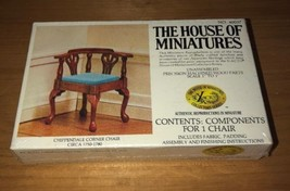 SEALED The House of Miniatures CHIPPENDALE CORNER CHAIR 1750-1780 X-Acto... - $15.95