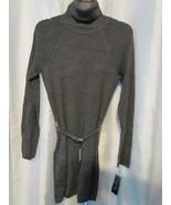 NWT INC International Concepts Chain Belt Turtleneck Tunic Grey M Org $6... - $6.99