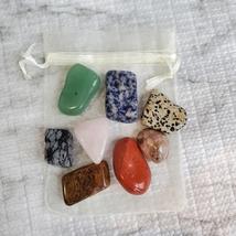 Tumbled Rock Crystals, Set of Eight Polished Stones, gemstone crafts, home decor image 2