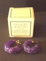 """New - Vtg. Avon """"Fashion Jewelry"""" Floral Hoop Pierced Earring - $2.48"""