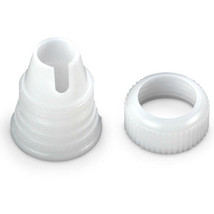 Wilton Standard White Coupler For Bag and Tip Attachment Cake Decorating - $2.37