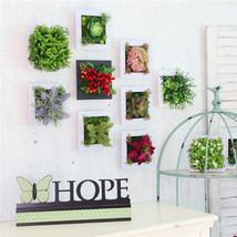 3D Artificial Plant Simulation Flower Frame Wall Decor Home Garden Wall ... - $12.82