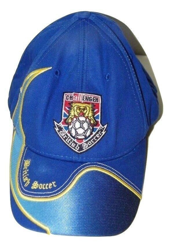 Blue Challenger British Soccer Baseball Cap Hat Ball 14605