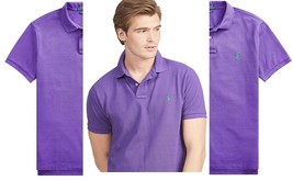 Polo Ralph Lauren Mens Classic Fit Big and Tall Mesh Polo Shirt purple  XLT - $55.43