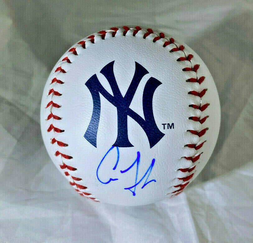 AARON JUDGE / NEW YORK YANKEES / AUTOGRAPHED YANKEES LOGO OML BASEBALL / COA