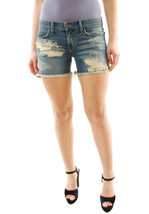 Wildfox Ladies Authentic Starworks London Denim Shorts Blue RRP $ 120 BCF71 - $157.41