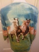 Womans Shirt 1X Bit & Bridle Horse Print Wraparound Sequin Embellished - $6.99