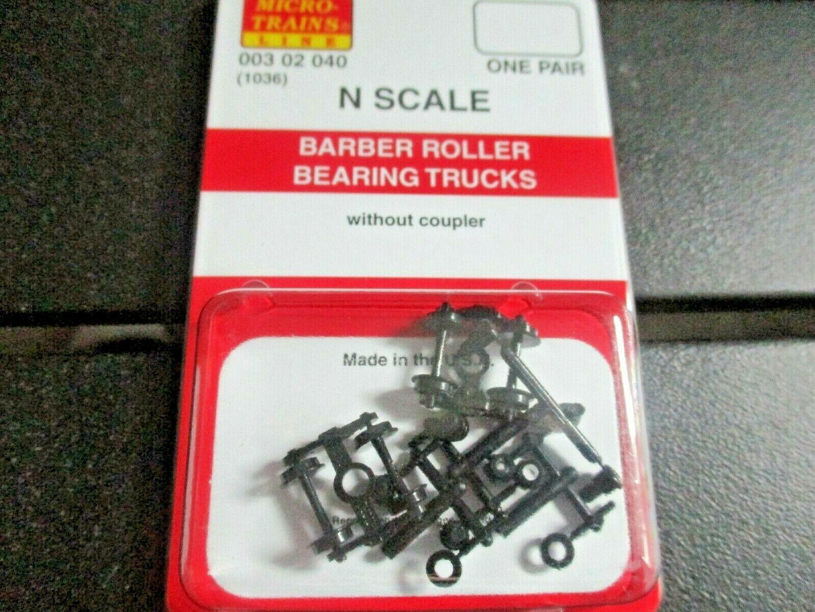 Micro-Trains Stock # 00302040 (1036) Barber Roller Bearing Trucks  No/Couplers N