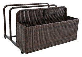 Modern Home Spa Resort Woven Wicker Pool Float Storage Organizer - $197.89