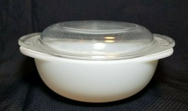 Vintage Pyrex Opal White Ovenware #022 Casserole 1.5 Qt w/ Clear Glass Lid - $9.90