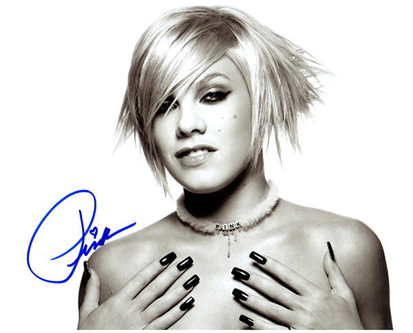 Primary image for PINK  Authentic Original  SIGNED AUTOGRAPHED 8X10 w/ COA