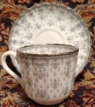 Spode FLEUR DE LYS GREY Cup & Saucer (multiple available) - $18.66