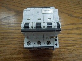 Siemens 5SY7340 40A 3p 400V/480V Din Rail Mount Breaker w/ Auxiliary Switch Used - $100.00