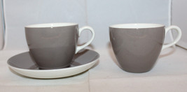 Wedgwood of Etruria & Barlaston 2 Coffee Tea Mug Cup 1 Saucer Set Englan... - $37.93