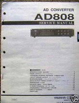 Yamaha AD808 Analog to Digital Unit Original Service Manual Schematics P... - $19.79