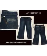 Apt 9 Boot Cut Blue Jeans Mid Rise Straight Hip & Thigh Sz 18S - $18.99