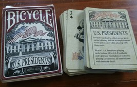 1 Deck Bicycle US Presidents Red Standard Poker Playing Cards Deck Collectible - $6.93