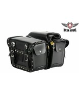 Waterproof PVC Motorcycle Saddlebag With Quick Release & Studs Biker Uni... - $64.34