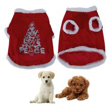 (red size S)Pet Puppy Dog Cotton Soft Clothes Santa Costume Christmas Pe... - €16,11 EUR
