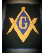 Masonic  Inspired Handmade Crochet Lapghan - $110.00