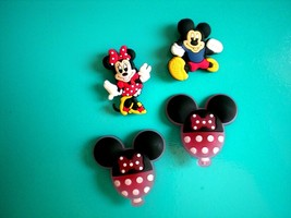 Shoe Charm Minnie Mickey Mouse Clog Plug Button Pins For Holes & Fit Wri... - $9.99