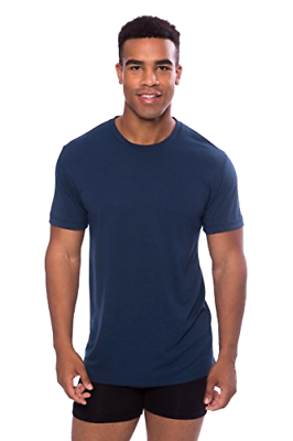 Primary image for TexereSilk Men's Crew Neck Undershirt - Luxury T-Shirt in Bamboo Viscose Slimfit