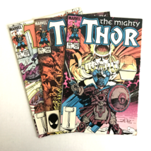 The Mighty Thor #342,344,352 Lot of 3 Marvel Collectible Comics  - $4.47