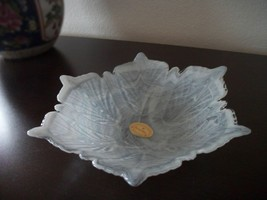 Murano Style White Glass Bowl Made In Italy-NEW-Perfect Gift For Someone Special - $35.00