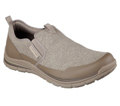Moc Casual Dress Memory Comfort Taupe shoes 65198 Skechers Foam Denim Men Loafer xP10qf