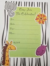 Come Join the Celebration safari design 8 cards and 8 envelopes - $3.95