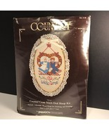 COUNTRY COLLECTION COUNTED CROSS STITCH WELCOME OVAL HOOP KIT 5X9 PARAGO... - $19.75