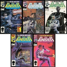 Punisher 1st Series Comic Set 1-2-3-4-5 Lot Marvel 1986 Frank Castle Mike Zeck  - $149.00